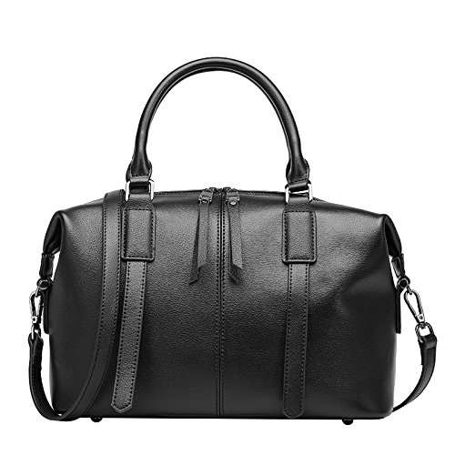 GUANGMING77 Boston Weibliche_Bag Umhängetasche Messenger black