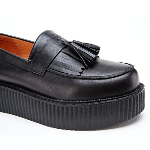 Punks Cuir Oxford Creepers Roseg Mocassins Mens Glands Appartements Mocassins xq5vCZTY