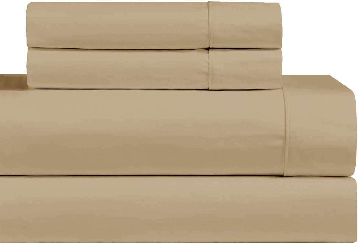 LINEN BEDDING RV Sheet Sets-(48x75) 3/4 Full BUNK Size, Taupe up to 8 inch deep Mattress Sheets for Camper Bed Microfiber sheetset.