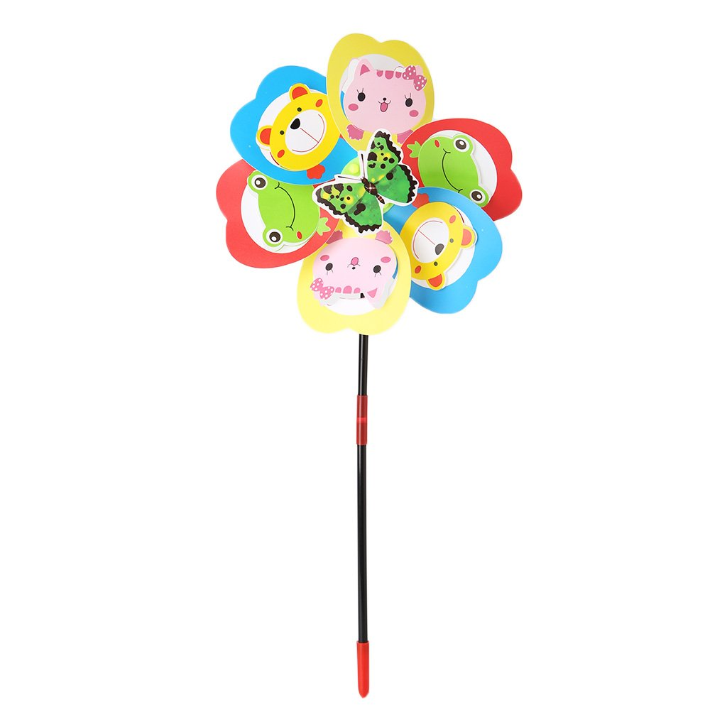Lergo Windmill Kids Toys Animals Yard Garden Decor Ornaments Colorful Outdoors Spinner