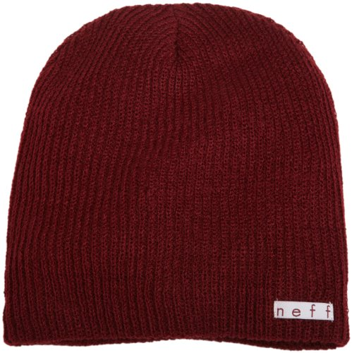 Neff Unisex Daily Beanie, Warm, Slouchy, Soft Headwear, Maroon, One Size ()