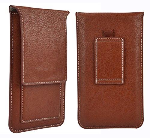 Universal Faux Leather 5 Inch Cellphone Belt Clip Pouch C...