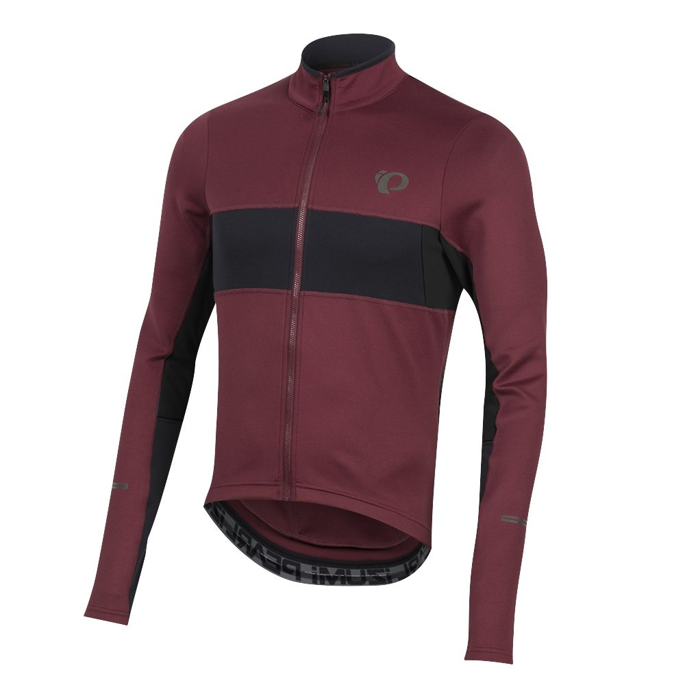 PEARL IZUMI Elite Escape Thermal Longsleeve Jersey Men Port schwarz 2018 Radtrikot langärmlig