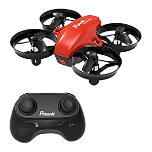 Mini Drone, Potensic A20 Altitude Hold Quadcopter Drone 2.4G 6 Axis Headless Mode Remote Control Nano Quadcopter for Beginners - Red