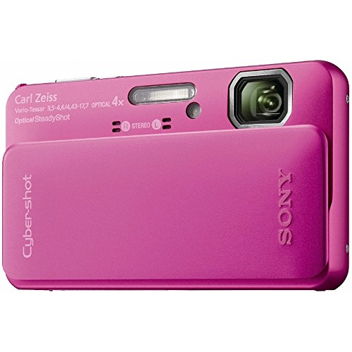Sony Cyber-Shot DSC-TX10 16.2 MP Waterproof Digital Still Camera with Exmor R CMOS Sensor, 3D Sweep Panorama, and Full HD 1080/60i Video (Pink) (Camera Digital Waterproof Sony)
