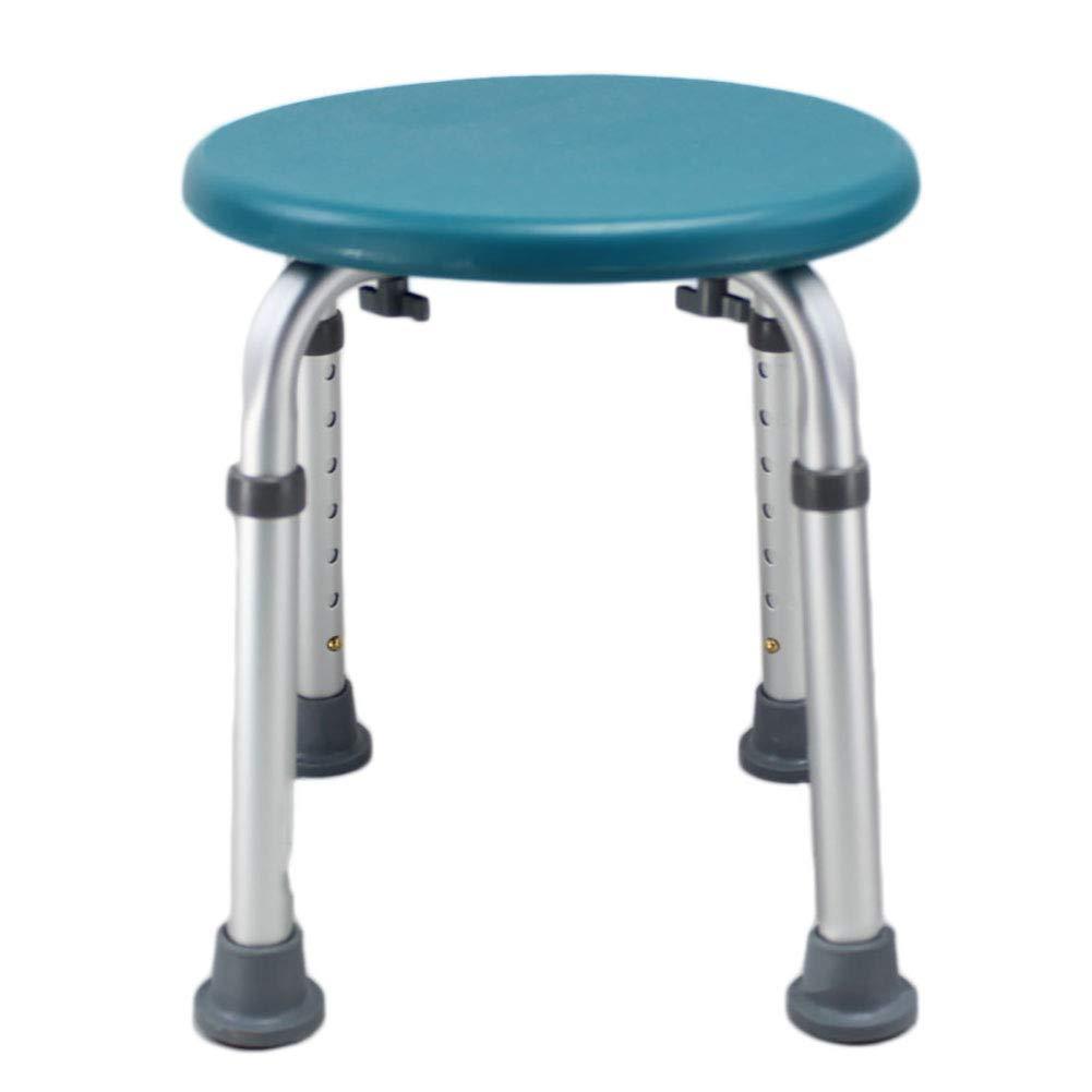 Ai Shower Chair, Adjustable Bathroom Anti-skid Seat, Round Bathtub, Pregnant Woman Flush Chair (Color : Green)