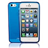 Jarv Flexible TPU Matte finish Snap-on Case for iPhone 5 - Clear Blue