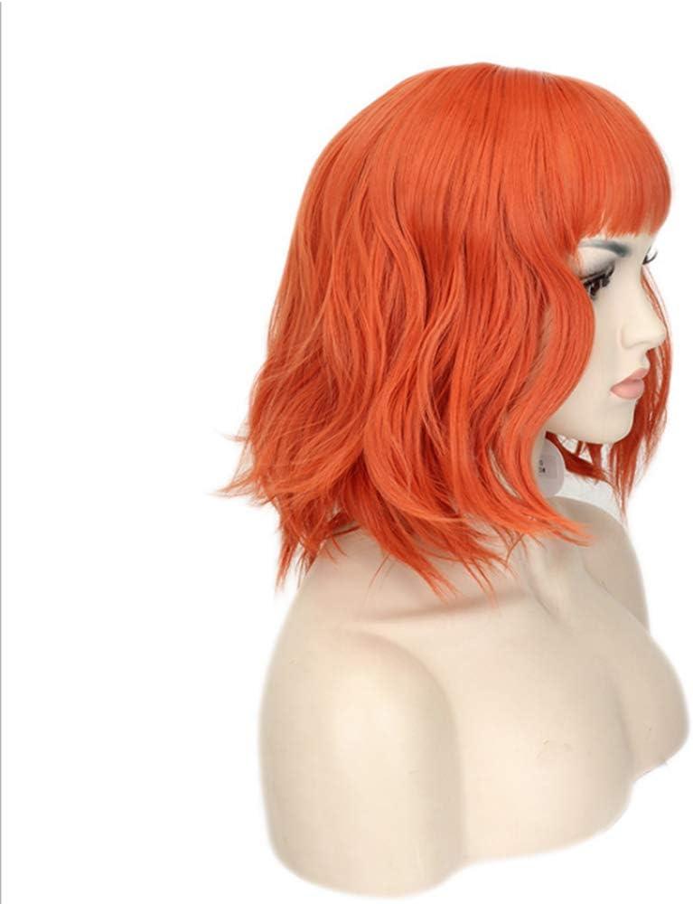 Anime Wig Perruque pour femme Cheveux courts Cosplay Perruque de cheveux courts Style Anime avec filet
