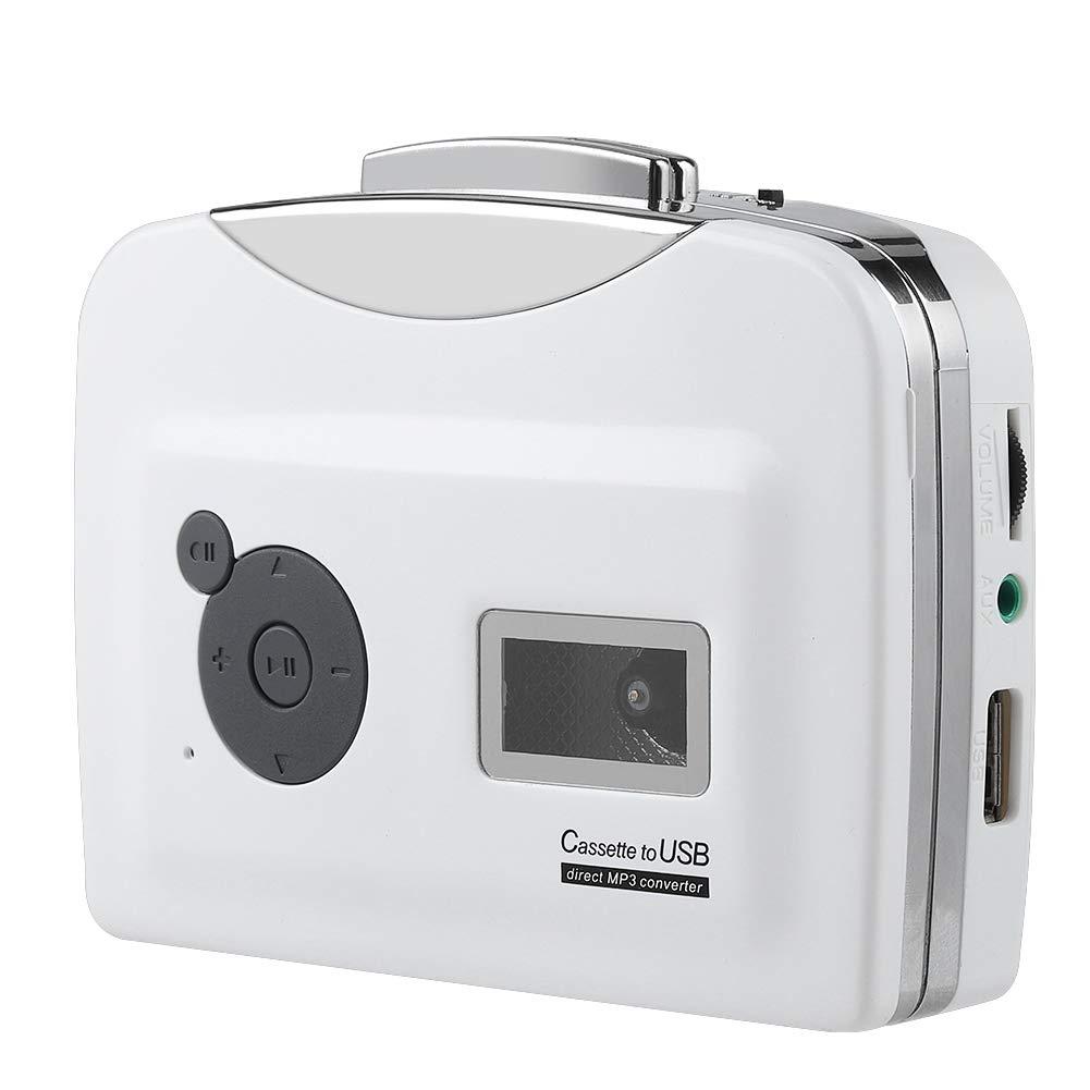 VBESTLIFE Lecteur de Cassette Portable, Convertisseur de Cassette Audio à MP3 Flash USB avec écouteurs uitable pour Windows XP/Vista / 7