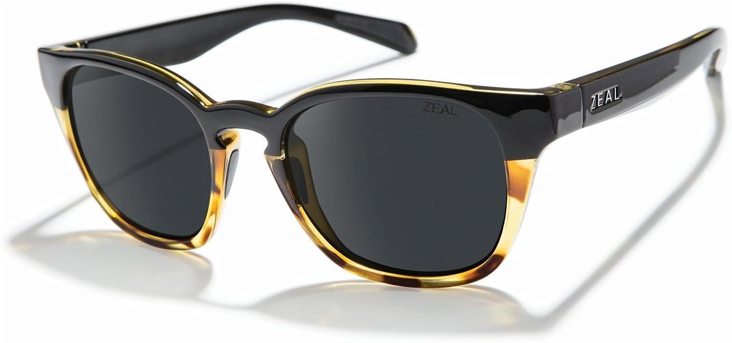 08ab3aa95e8 Zeal Optics Unisex Windsor Black Tortoise Polarized Dark Grey Lens One Size