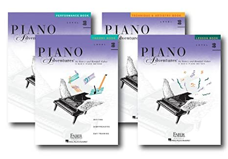 Faber Piano Adventures Level 3B Four Book Pack Lesson/Theory/Perf/Technique