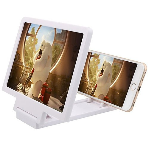 SHOP STORY Smartphone Screen Magnifier Stand - Folding Projector without  Glass - Ideal for Children - Phone Amplifier - White