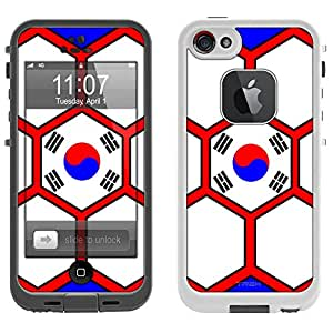 Skin Decal for LifeProof iPhone 5 Case - Soccer Ball Korea Flag