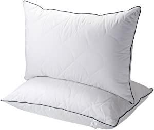 Sable Pillows for Sleeping, 2 Pack Hotel Collection Bed Pillow