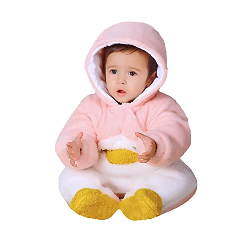 b563c2859 Amazon.com  Newborn Baby Boys Girls Romper Hoody Coat Winter Infant ...
