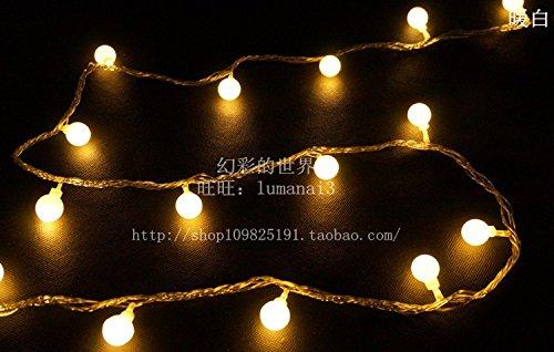Festosa sfera led luci rotonde a lampeggiare le luci di stringa