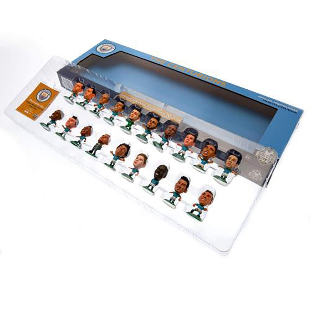 Official Licensed Manchester City F.C SoccerStarz Team Pack 2017//18 Premier League Winners - 18 Figures