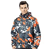 Men's Winter Hoodie Soft Shell Camouflage Waterproof Windproof Outdoor Coat