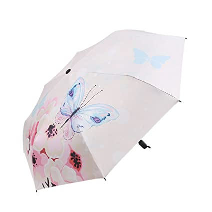 SX-ZZJ Paraguas plegables Sombrillas Ultraligeras Sombrillas Protección Solar UV Mujer Negro Paraguas Plegable (