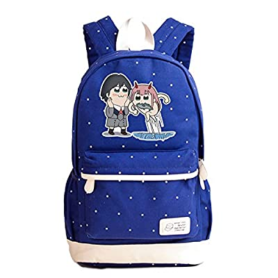 Siawasey Anime DARLING in the FRANXX Cute Cartoon Luminous Laptop Daypack Backpack Shoulder School Bag (Dark Blue3)