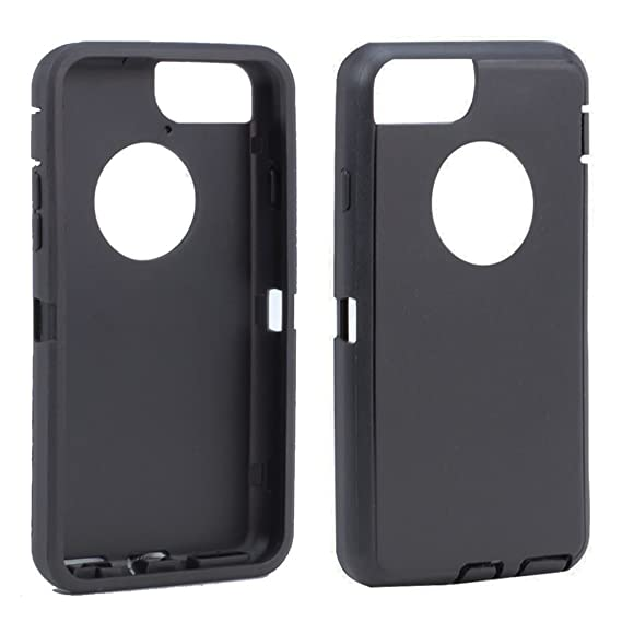 new arrival 6eff7 61056 TPE Silicone Outer Skin Replacement for Otterbox Defender Series Case Cover  iPhone 7 Plus/iPhone 8 Plus 5.5 inch (Black)