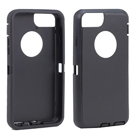 quality design 244a1 ecd61 Replacement TPE Silicone Skin for Otterbox Defender Series Case Cover For  Apple iPhone 7 Plus 5.5 inch (Black)