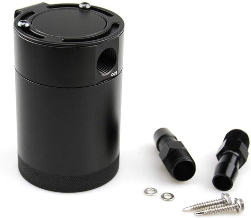 HOMEE Oil Catch Can 2-Port Black Universal 3//8 inch NPT Plug kit