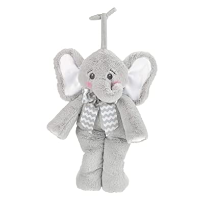 Bearington Baby Lil' Spout Hush-A-Bye Elephant Musical Crib Pull : Baby