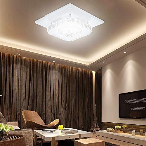 """LED Light Celendi 7.9"""" Modern Mini Crystal Ceiling Light Flush Mount Chandelier Lighting White"""