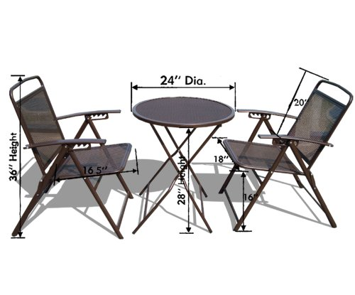 Strong camel bistro set patio table and chairs outdoor