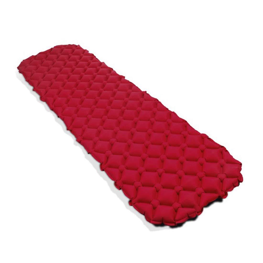 Jakiload Camping Zelt Isomatte-Outdoor feuchtigkeitsdichten Automatische Aufblasbare Pad PVC Automatische Aufblasbare Pad (Farbe : Orange)