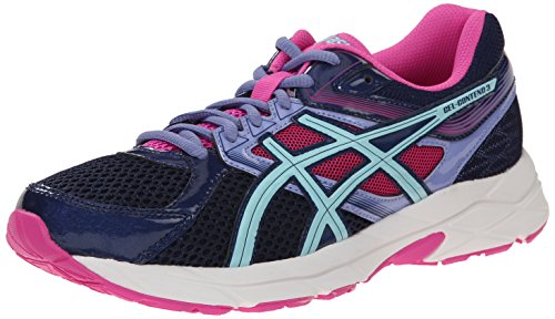 ASICS Women's Gel-Contend 3 Running Shoe Steel Grey/Safety Yellow/Hot Pink 10 M US
