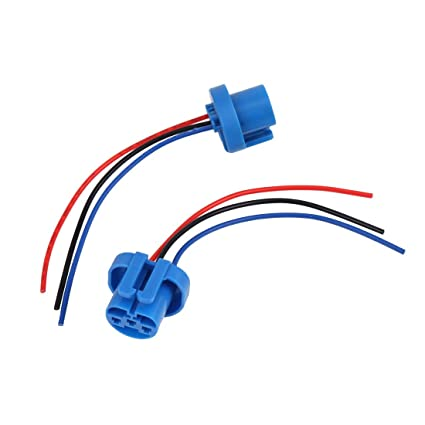 Amazon.com: uxcell 2pcs 12V 3-9W H13 9008 3-Wire Blue Car ... on hid kit headlight harness, h13 hid wiring, h13 plug harness,