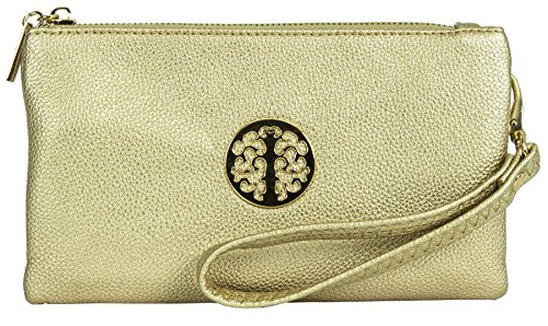 Big Gold Vegan Bag 5 Body Handbag Shoulder Womens Cross Metallic Style Mini Leather Shop Purse Pouch UrZFwr
