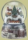 Musical Revolving Train Dome Globe by Roman Inc