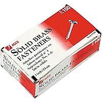 ACCO Solid Brass Paper Fasteners, 1 Inch Capacity, 100 Fasteners per Box (A7071504)