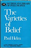 The Varieties of Belief, Paul Helm, 0041210174