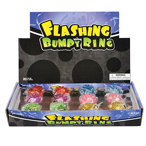 [Flashing Led Bumpy Ring (Pack of 12)] (The Blue Man Group Costume)