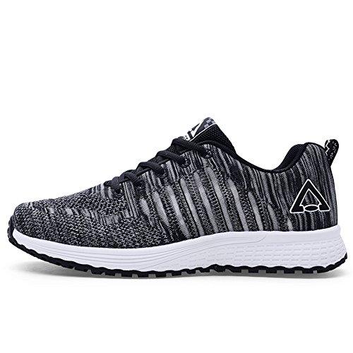 Ligeras 40 Zapatillas Black5 Hombres Malla para Negras de Transpirables Zapatillas Casual pwzdwqZ