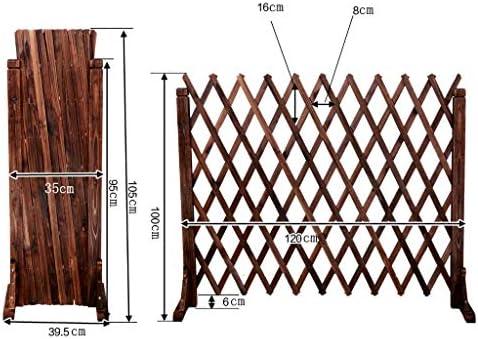 YP Muebles para el hogar Cercas Cercas de Madera Decoraciones de Rejillas Barandas telescópicas Jardín Exterior Cerca de Mascotas Cerca,105cm: Amazon.es: Deportes y aire libre