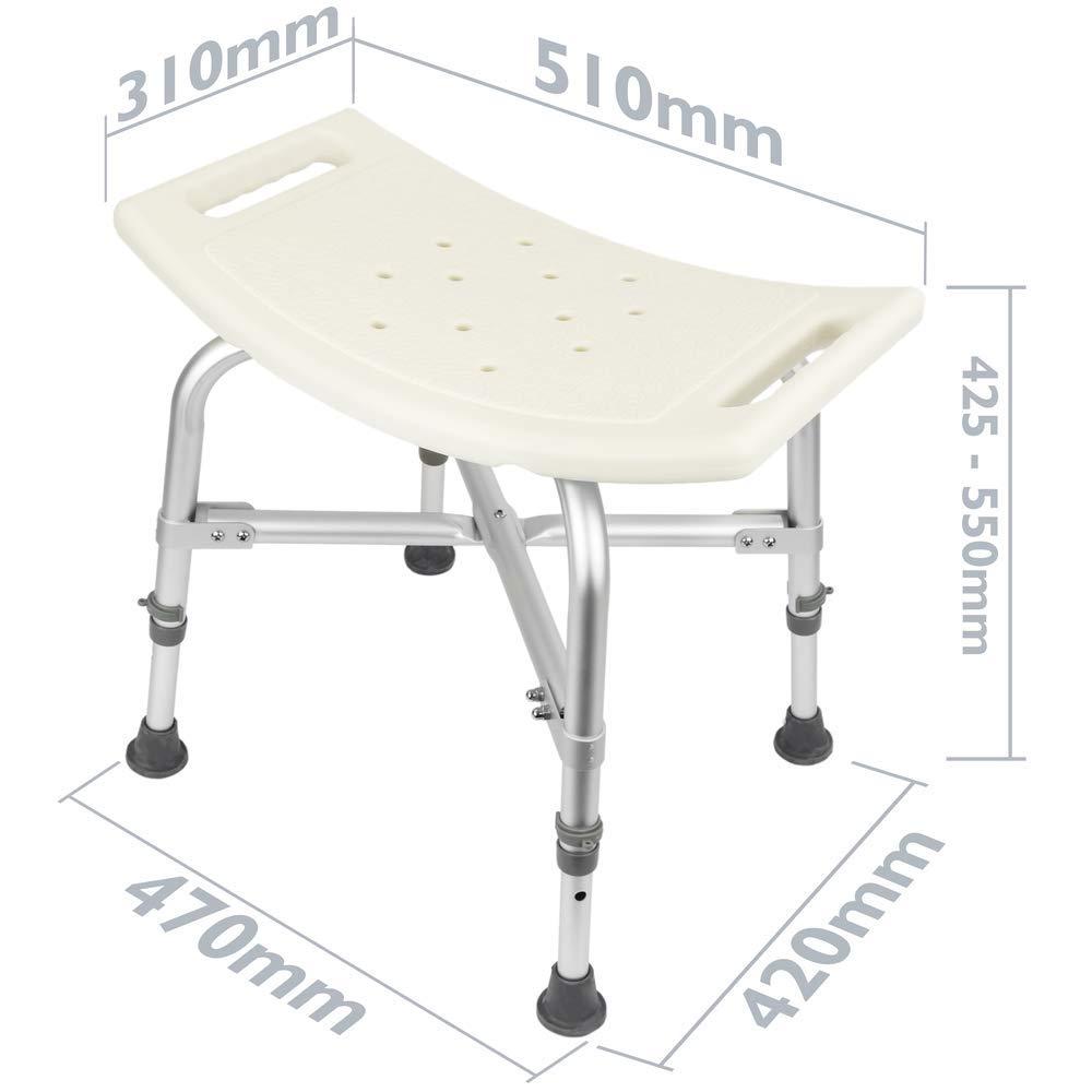 Sgabello per Vasca ergonomico da Doccia Altezza Regolabile Rinforzato PrimeMatik