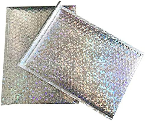 TOOGOO 50Pc Packaging Shipping Bubble Mailers Gold Paper Padded Envelopes Gift Bag Bubble Mailing Envelope Bag 15x13Cm+4Cm
