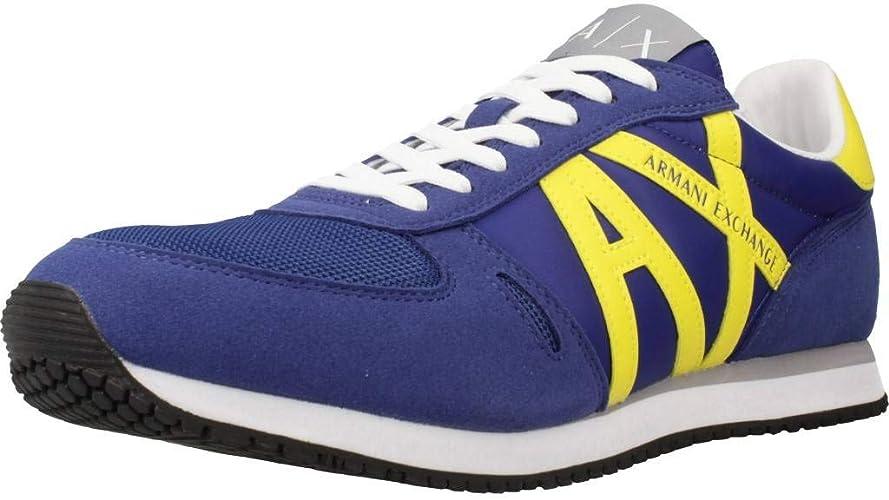 Armani Exchange Men S Retro Running Sneakers Low Top Amazon Co Uk Shoes Bags