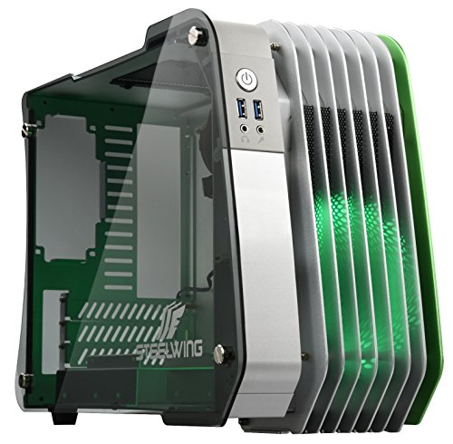 Enermax STEELWING Green Tempered Glass Micro ATX Aluminum...