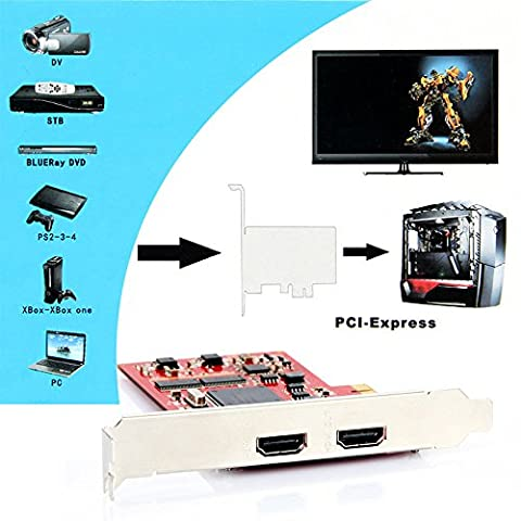 720p/1080p YK762H PCI-E TV PC Capture Card HDMI Definition Video Equipment for PS 3 4 Xbox (Tv Card With Hdmi)