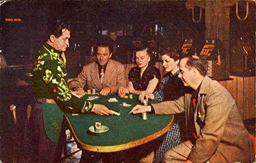 Legal State  Supervised Gambling Reno  Nevada Original Vintage Postcard
