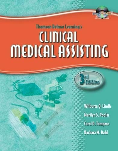 Delmar's Clinical Medical Assisting (Thomson Delmar's Learning's) by Brand: Cengage Learning