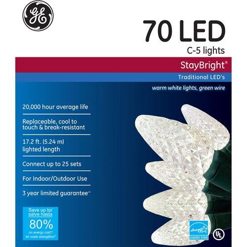Ge C5 White Led Christmas Lights - 9