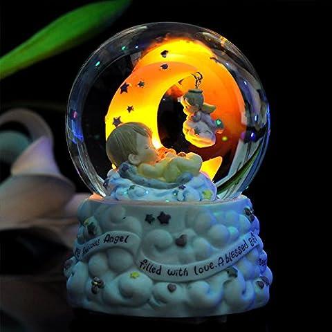 JinRou Modern Home Decoration Crystal Ball Music Box Creative Birthday Gift Wedding Supplies ,3