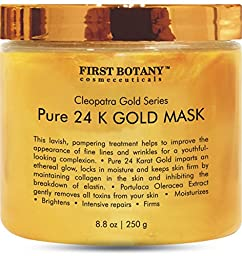 The BEST 24 K Gold Facial Mask 8.8 oz - Gold Mask for Anti Wrinkle Anti Aging Facial Treatment, Pore Minimizer, Acne Scar Treatment & Blackhead Remover